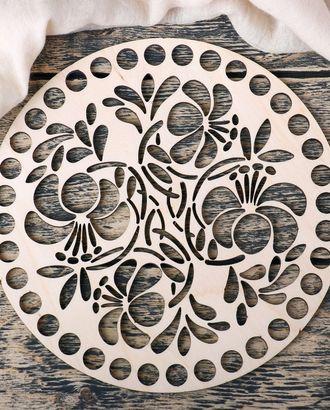 """Заготовка для вязания """"Орнамент.Четыре цветка"""" фанера 4мм 20х20см арт. ИВЗА-28-1-35963"""