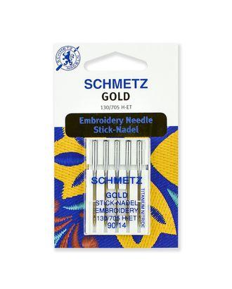 Иглы для вышивки Gold, титаниум №90/14, Schmetz арт. ИДВ-4-1-37104