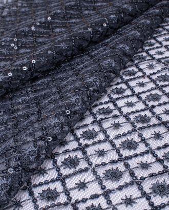 Вышивка на сетке с пайеткой Ромб арт. ПАЙ-23-3-20735.003