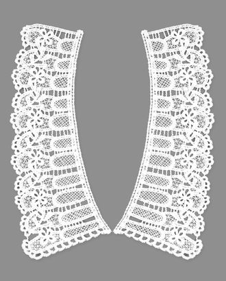 Воротник плетеный из 2-х частей р.8,5х20,5 см арт. ГВ-85-1-31078