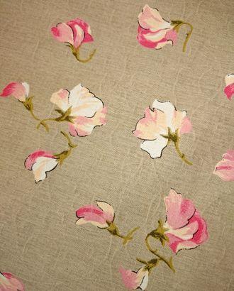 Горошек розовый (Полулен скатертный) арт. ПЛС-69-1-1543.012