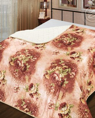 Одеяло-покрывало стеганное 140*200 роза арт. АРТД-2450-1-АРТД0231621