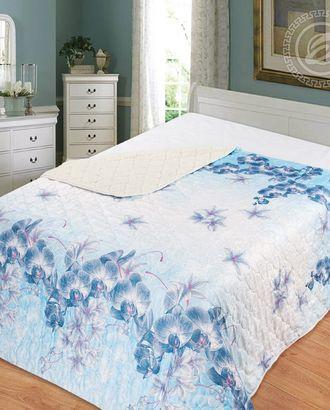 Одеяло-покрывало стеганное 140*200 орхидея арт. АРТД-2458-1-АРТД0231617