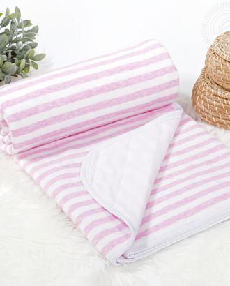 Одеяло-покрывало трикотажное 100*140 дорожка розовый арт. АРТД-2475-1-АРТД0231778