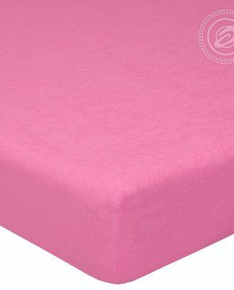 Простыня махровая на резинке 60*120 брусника арт. АРТД-47-1-АРТД0232218
