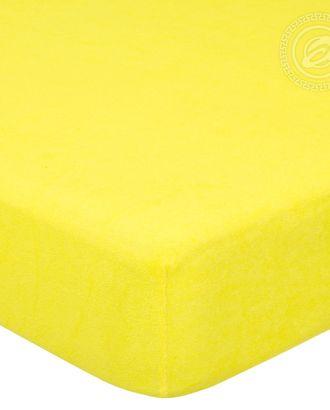 Простыня махровая на резинке 60*120 лимон арт. АРТД-49-1-АРТД0232222