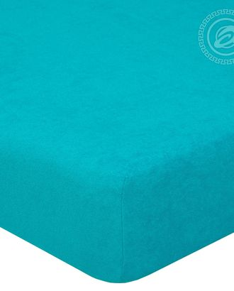 Простыня махровая на резинке 60*120 незабудка арт. АРТД-50-1-АРТД0232224