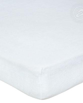 Простыня махровая на резинке 60*120 подснежник арт. АРТД-52-1-АРТД0232228
