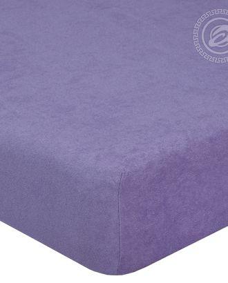 Простыня махровая на резинке 60*120 сирень арт. АРТД-53-1-АРТД0232230