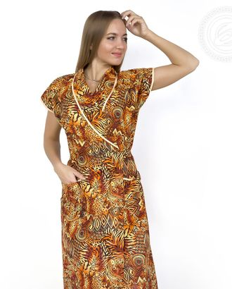 Африканские мотивы  халат женский с запахом мод. 02.15.03 раз 56 арт. АРТД-176-2-АРТД0233130
