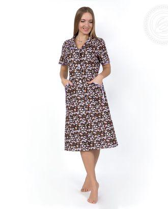 Весенний  халат жен. на пуговицах с рукавом 03.15.03 раз 48 арт. АРТД-206-1-АРТД0233555