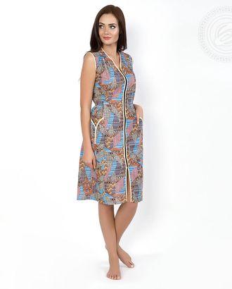 Витражи  халат женский на молнии с рельефом мод.04.15.03 раз 46 арт. АРТД-212-1-АРТД0233633