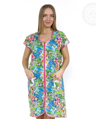 Лето халат женский на молнии мод. 01.15.03 раз 46 арт. АРТД-351-1-АРТД0235003