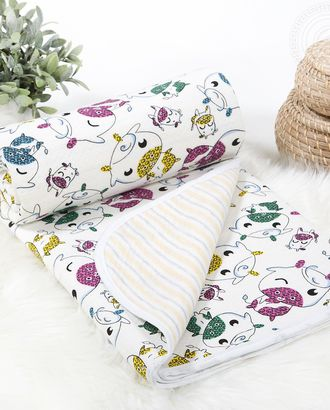 Одеяло-покрывало трикотажное 100*140 веселая корова арт. АРТД-2568-2-АРТД0241302