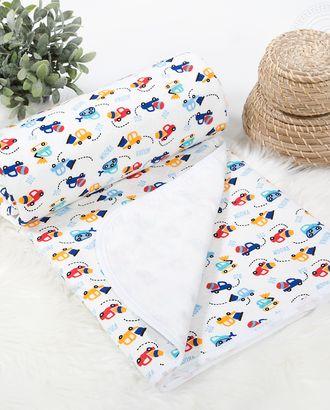 Одеяло-покрывало трикотажное 100*140 забавные машинки арт. АРТД-2570-2-АРТД0241304