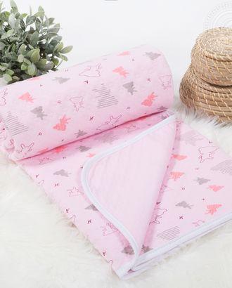 Одеяло-покрывало трикотажное 100*140 мишки-малышки розовый арт. АРТД-2575-1-АРТД0241297