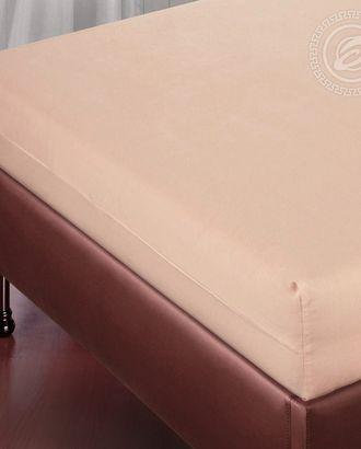 Простыня на резинке 90*200 персик арт. АРТД-1034-1-АРТД0243369