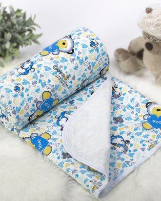 Одеяло-покрывало трикотажное 100*140 карапуз голубой арт. АРТД-2601-1-АРТД0243612