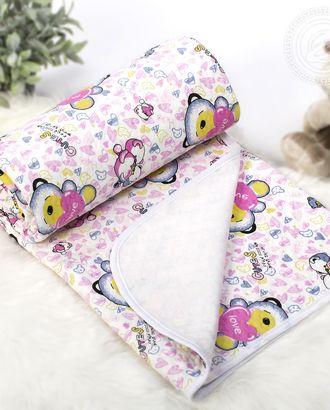 Одеяло-покрывало трикотажное 100*140 карапуз розовый арт. АРТД-2602-2-АРТД0243634