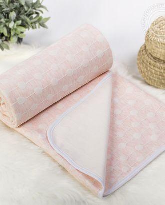 Одеяло-покрывало трикотажное 180*200 ожерелье розовое арт. АРТД-2606-1-АРТД0243860