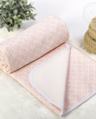 Одеяло-покрывало трикотажное 180*200 ромбы розовые арт. АРТД-2612-1-АРТД0244948