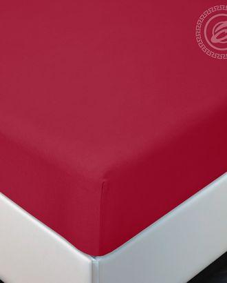Простыня трик. на резинке вишня арт. АРТД-2562-1-АРТД0239341