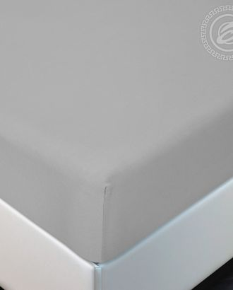 Простыня трик. на резинке серый арт. АРТД-2563-1-АРТД0239342
