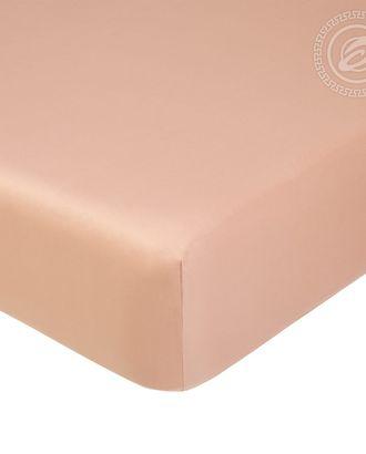 Простыня на резинке 160*200см бежевый арт. АРТД-1269-1-АРТД0245805