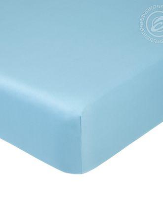 Простыня на резинке 140*200см голубой арт. АРТД-1254-1-АРТД0245715