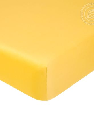Простыня на резинке 140*200см жёлтый арт. АРТД-1255-1-АРТД0245716