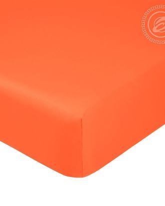 Простыня на резинке 140*200см оранжевый арт. АРТД-1256-1-АРТД0245717
