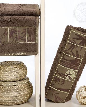 Бамбук самойловский текстиль комплект полотенец 50*90 70*140 шоколад (п/у) арт. АРТД-2617-2-АРТД0245993