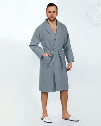 Серый  халат банный  мод. 011.16.11 раз 2xl/3xl арт. АРТД-1414-1-АРТД0247602