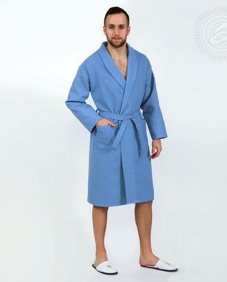 Голубой  халат банный  мод. 011.16.11 раз 2xl/3xl арт. АРТД-1471-1-АРТД0248361