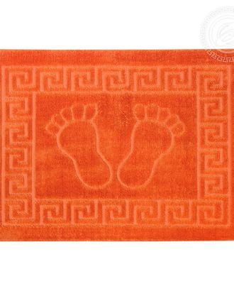 Ножки самойловский текстиль коврик на резиновой основе 50*70 оранжевый арт. АРТД-2290-1-АРТД0243675