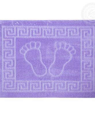 Ножки самойловский текстиль коврик на резиновой основе 50*70 сирень арт. АРТД-2318-1-АРТД0246021