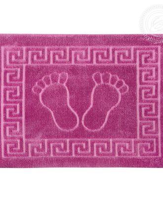 Ножки самойловский текстиль коврик на резиновой основе 50*70 фиолетовый арт. АРТД-2320-1-АРТД0246025
