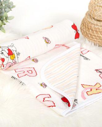 Одеяло-покрывало трикотажное 100*140 буквы арт. АРТД-2677-1-АРТД0249470