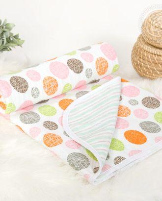 Одеяло-покрывало трикотажное 100*140 фонарики арт. АРТД-2682-1-АРТД0249480