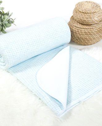 Одеяло-покрывало трикотажное 100*140 лапки голубые арт. АРТД-2730-1-АРТД0250560
