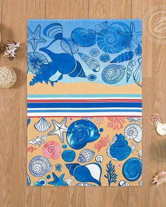 Полотенце вафельное 50 * 70 пляж арт. АРТД-1834-1-АРТД0251509