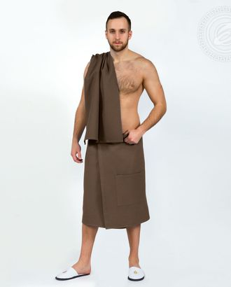 Набор для бани и сауны мужской коричневый арт. АРТД-1843-1-АРТД0251540