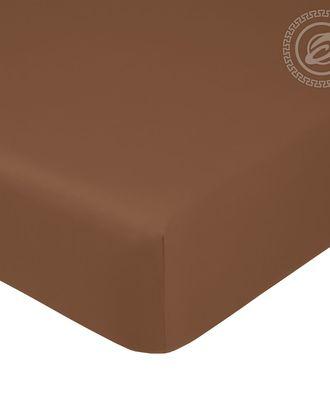 Простыня на резинке 140*200см коричневая арт. АРТД-1874-1-АРТД0251893