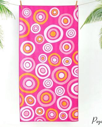 Полотенце махровое пляжное розовый 70*140 см арт. АРТД-1407-1-АРТД0247540