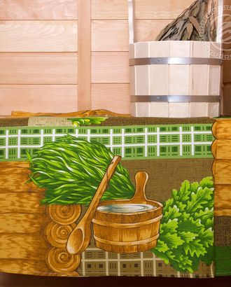Полотенце вафельное банное  80 * 150 банька арт. АРТД-1850-1-АРТД0251567