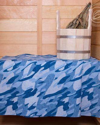 Полотенце вафельное банное  80 * 150 камуфляж синий арт. АРТД-1851-1-АРТД0251568