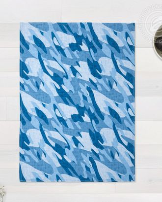 Полотенце вафельное 50 * 70 камуфляж синий арт. АРТД-2075-1-АРТД0253610