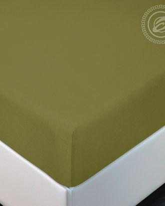 Простыня трик. на резинке 120*200 олива арт. АРТД-2890-1-АРТД0245124