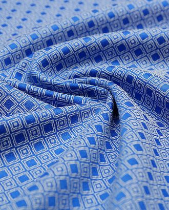 Ткань жаккард, нежный геометрический узор на голубом фоне арт. ГТ-4351-1-ГТ-12-1701-14-30-1