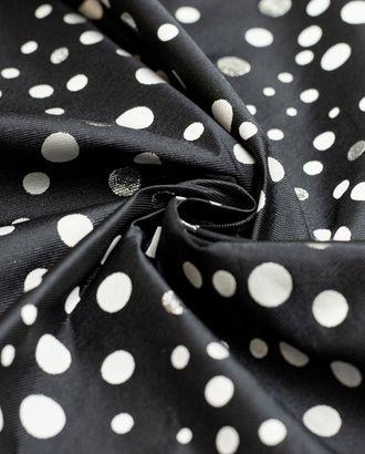 Жаккард черного цвета в горошек арт. ГТ-4280-1-ГТ-12-5786-9-21-1